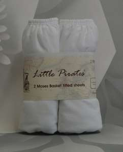 2 x Baby Moses Basket Jersey Fitted Sheet 100% Cotton 30x75cm 2x Fitted Sheets £3.70 Ebay littlepiratesltd
