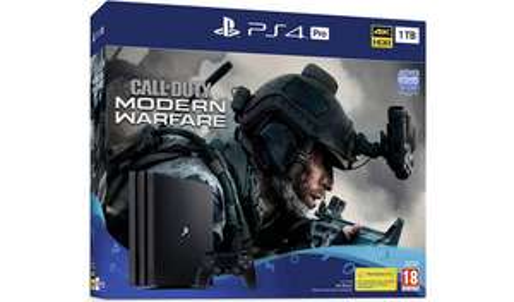 Sony PS4 Pro 1TB & Call of Duty: Modern Warfare Console Bundle + Extra Dualshock 4 Controller + Bluray - £299 @ Argos (Free C&C)