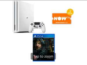 White PS4 Pro 1TB (Gamma Chassis) +Death Stranding +NOW TV 2 Months Entertainment Pass - £269.99 Delivered @ Game