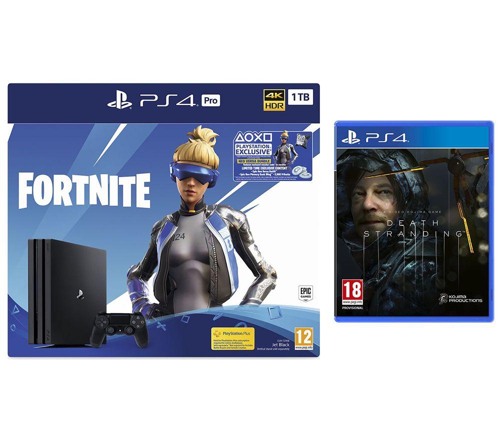 SONY PlayStation 4 Pro, Fortnite Neo Versa & Death Stranding Bundle £249 @ Currys