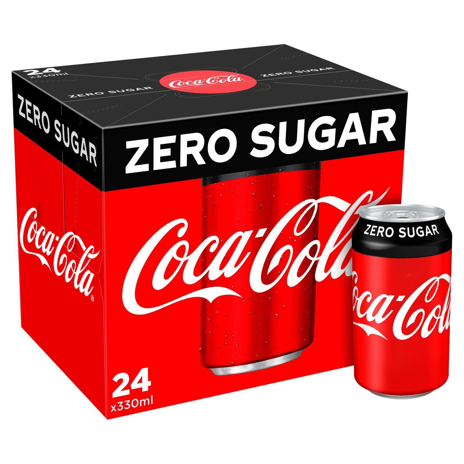 Coca-Cola Zero Sugar 24 x 330ml £6 @ Iceland