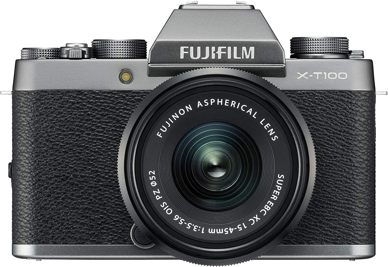 Fujifilm X-T100 Mirrorless Digital Camera, Dark Silver with Fujinon XC15-45mm Optical Image Stabilisation - £349 @ Amazon