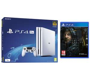 White PlayStation 4 Pro & Death Stranding Bundle (+ 6 months Spotify Premium) £249 @ Currys - collect instore