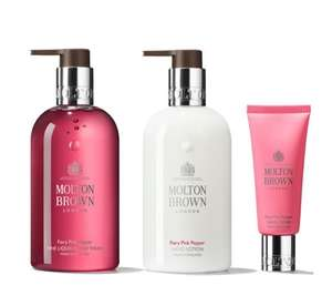 Molton Brown Fiery Pink Pepper Hand Trio £28.45 Delivered QVC