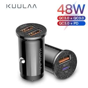 Quick Car Charge 3.0 48W USB QC / PD £2.38 @ Aliexpress kuulaa Official Store