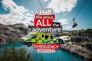 Velocity Zip Wire 50% off for NHS, Armed Foreces etc. using code @ Zip World