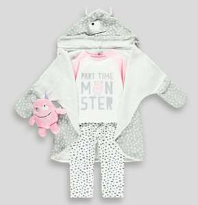 Girls 3 Piece Monster Pyjama Set (9mths-5yrs) £7 @ Matalan (Free Click and Collect) Others available, more in the thread