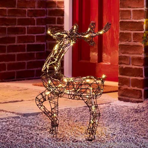 Rattan Reindeer Christmas Lights - Small £17 / Large £22 @ Wilko