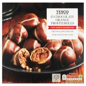 3x Chocolate Orange Profiteroles £5 @ Tesco - 270G / 120 Cumberland Sausage Rolls (2.4KG) (3x 40 packs) Also £5 mix and match party foods