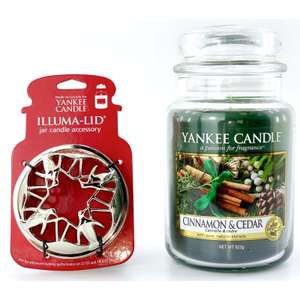 Yankee Candle Cinnamon & Cedar Large Jar + Illuma Lid £13 / £12.35 For New Accounts @ Yankee Bundles