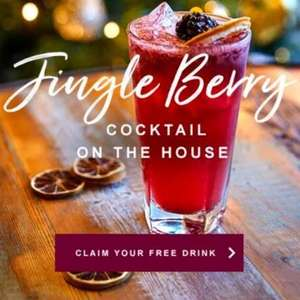 Free Drink Jingle berry cocktail at Pitcher & Piano via app