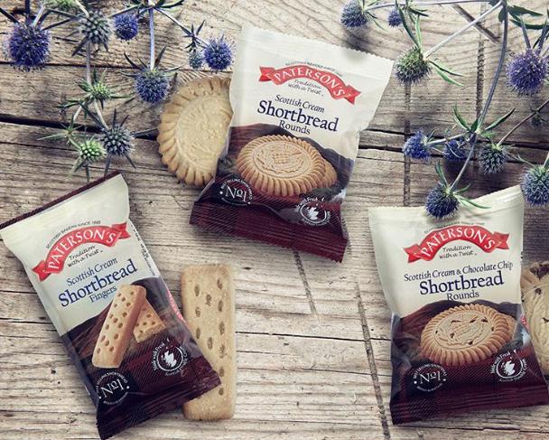 10 for £1 Paterson's Shortbread mini pack Heron Billingham
