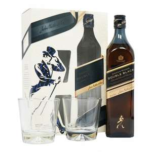Johnnie Walker Double Black - 2 Glass Gift Pack - Richard Malone Edition £27.85 delivered @ The whisky world