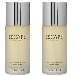 Two Calvin Klein Escape For Men Eau de Toilette 50ml Sprays for £20 delivered with code @ Beauty Base