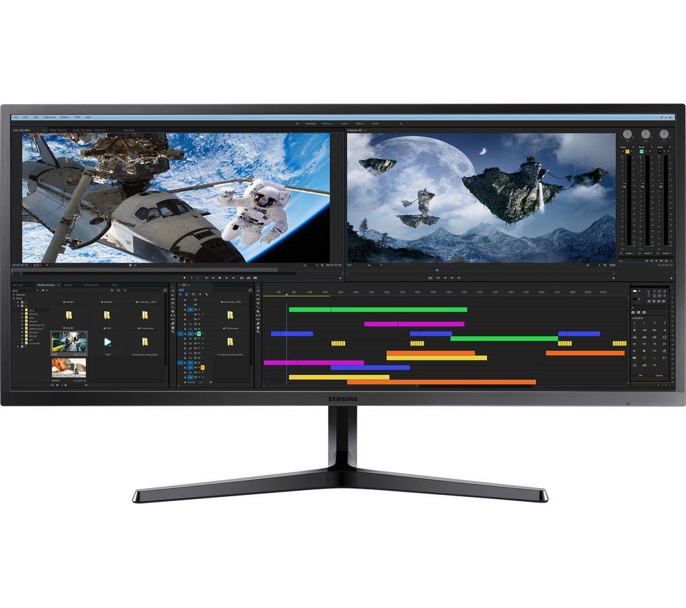 """SAMSUNG LS34J550 Quad HD 34"""" LED Monitor - Dark Grey - £279 @ Currys"""