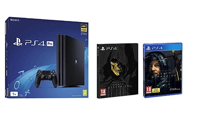 Sony Playstation 4 Pro 1TB Black/White (PS4) + Death Stranding Standard Edition (Higgs Variant) £269 @ Amazon