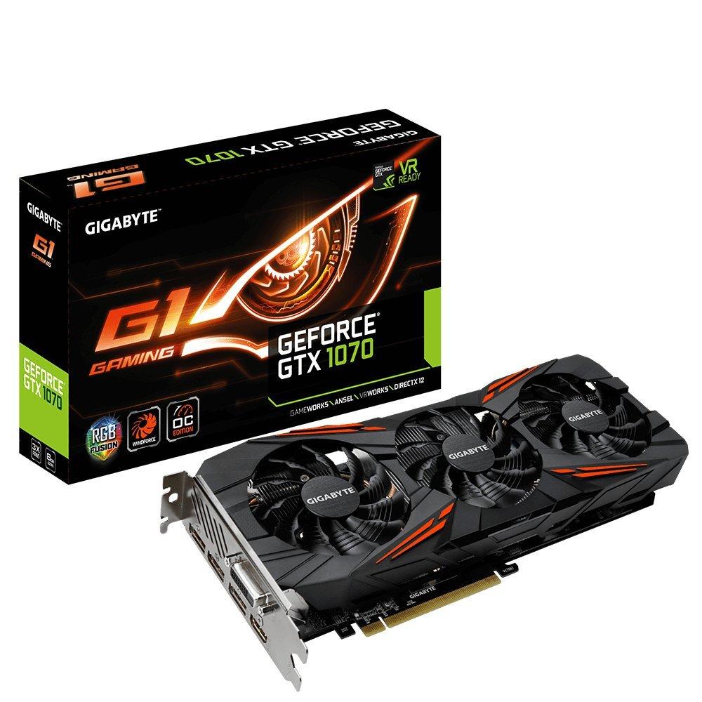 Gigabyte Geforce GTX 1070 G1 Graphic Card 8192 MB £289.95 @ Amazon
