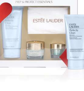 Better than 1/2 price on Estee Lauder Prep and Protect Essentials £35.00 Free Click and collect @ Boots