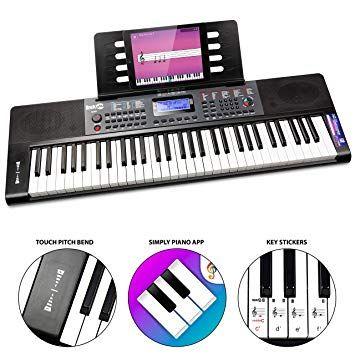 RockJam RJ461AX 61-Key MIDI, Alexa & Bluetooth Portable Digital Piano Keyboard, Power Supply, Simply Piano App £59.99 Sold by Amazon