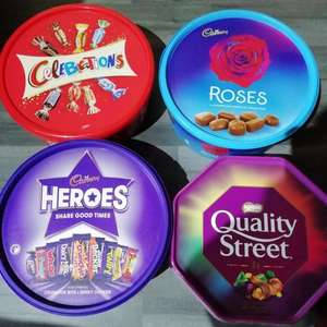 Till 31/12/19 Celebrations, Roses, Quality Street, HEROES tubs - £3.50 each or 2 for £6 at Lidl Northern Ireland In Store at Portrush
