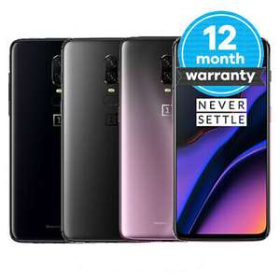 OnePlus 6T Sim Free - 128GB Mirror Black £284.74 Very Good condition / 256GB Midnight Black £297.49 Good condition @ MusicMagpie / ebay UK