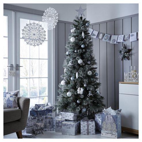 Tesco half price Christmas trees - 6.5ft Luxury Alpine Snow Christmas Tree - £30