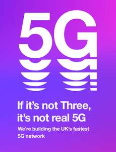 Three Mobile 8GB data U/M U/T Hotspot 5G Ready 12 month Advanced plan Possible £40 Quidco See OP- £8pm - Total Cost = £96 via uSwitch