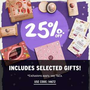 25% off selected products at The Body Shop using discount code
