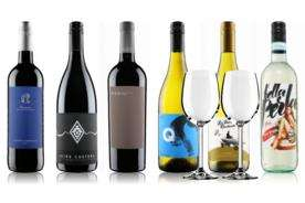 6 bottles of wine and 2 glasses £29.99 delivered at Virgin Wines