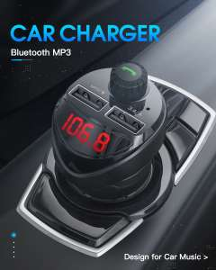 Car Charger with FM Transmitter Bluetooth Receiver Audio MP3 Player TF Card Car Kit 3.4A Dual USB Car Phone Charger AliExpiress/Kuulaa Store