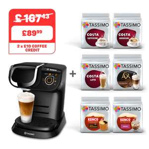 MY WAY BLACK COFFEE MACHINE + 6 PACKS - £89.99 @ Tassimo