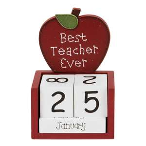 Best Teacher Ever Perpetual Calendar £6.23 delivered from Mollie and Fred