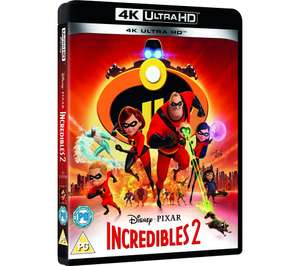 DISNEY Incredibles 2 UHD Bluray £1 at Currys PC World (Collection instore only)