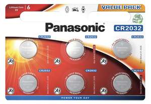 6 pack CR2032 Button Cell Batteries £2 at B&M Retail