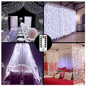 LED Curtain Lights Window Curtain Fairy Lights 306 LEDs 3m x 3m Indoor £9.99 + £4.49 NP Sold by OllnyDirect and Fulfilled by Amazon.