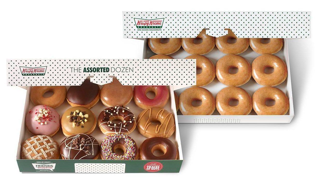 Krispy Kreme 2nd dozen for £1 valid till 31.12.19