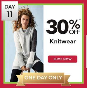 Peacocks 30% off knitwear