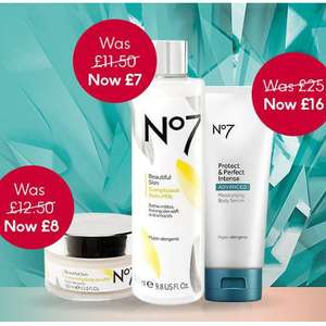 Save a third off no7 body care @ boots also 3 for 2 one day only