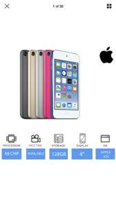 """Apple iPod Touch (128GB) 6th Generation 4"""" Retina Display, FaceTime & iMessage. Extra 15% off with Code PRESSIES £152.99 @ Music Magpie eBay"""