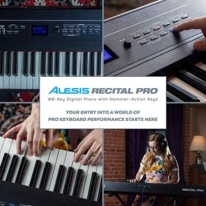 Alesis Recital Pro - 88 Key Beginner Digital Electric Piano / Keyboard £229 @ amazon.co.uk (with Weighted Keys, 12 Voices, 20W Speakers)