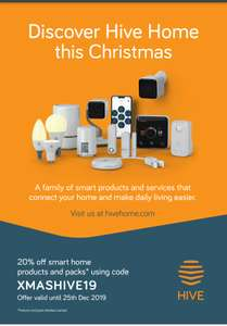 20% off almost everything @ Hivehome best ever Christmas offer. Apply code at checkout.