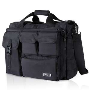 17-17.3 Inch Laptop Bag Messenger Bag Mens Military Multifunction Tactical Briefcaes, Black - £23.79 @ Sold by Yonto and FBA