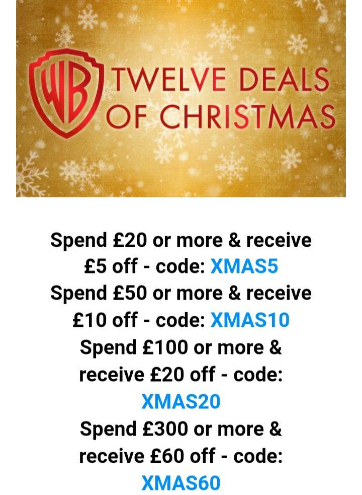 Warner Bros store voucher codes & free deliver (spend £20+ for £5 off + more)