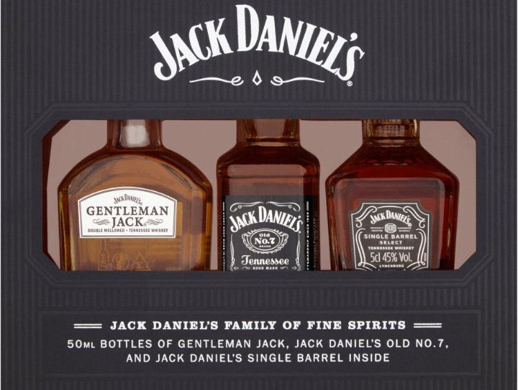 Jack Daniel's Whiskey Family Miniatures Set £10 @ Tesco