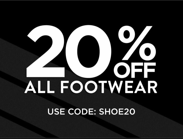 20% off all footwear @ DW Sports