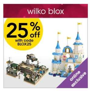 Wilko Blox (Lego compatible) 25% Off With Code - Online Only
