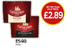 Cathedral city mature cheddar, 350g - £2.89 @ Budgens
