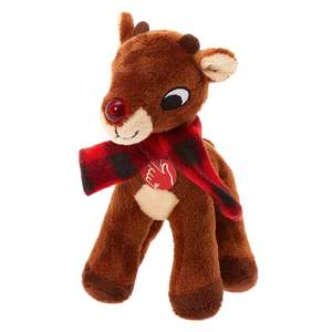 Rudolph the Red-Nosed Reindeer Singing & Light Up Plush Toy - £5 @ Claire's Accessories (Free Click & Collect)
