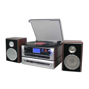 Steepletone Metro Modular Multi Function Music System with 3 Speed Turntable Radio Aux USB SD Cassette CD Player £225.98 @ Ideal World TV