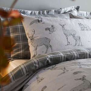 Forest Animals Brushed Cotton Pair Of Oxford Pillowcases £3 delivered with code @ Kaliedascope